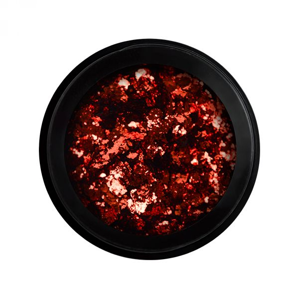 METAL CHROME FLAKES RED (SUGAR LOVE)
